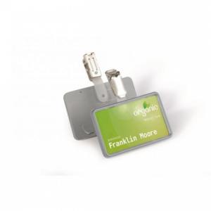 Visačka s európskym štipcom DURABLE CLIP CARD 75x40mm 25ks