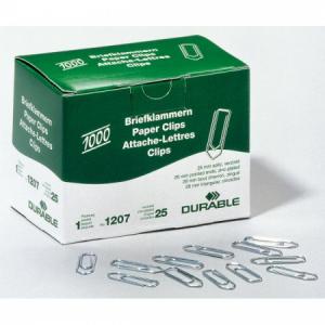Spisové spony DURABLE 26mm zinkové 1000ks