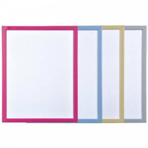 Tabuľa biela 60x40cm, farebný rám, mix farieb