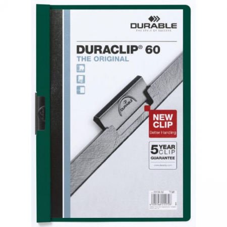 Obal s klipom DURACLIP Original 60 tmavozelený