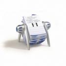 Rotačný stolový záznamník TELINDEX Flip VEGAS striebný/modrý