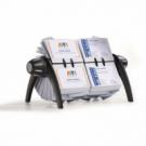 Rotačný stolový vizitkár na 600 vizitiek VISIFIX duo VEGAS čierny/sivý