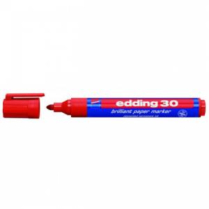 Lesklý popisovač edding 30 červený