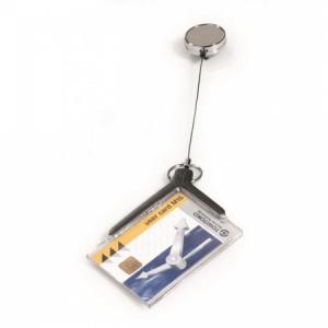 Visačka na plastovú kartu s kotúčom DURABLE CARD HOLDER DE LUXE PRO 85x54mm 10ks