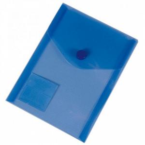 Plastový obal A6 s cvočkom Karton PP modrý