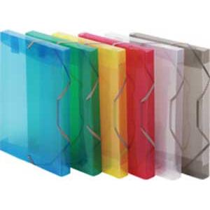 7f2384d8f492a Plastový box s gumičkou Karton PP priehľadný žltý