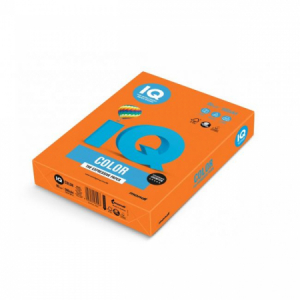 Farebný papier IQ color oranžový OR43, A4 160g