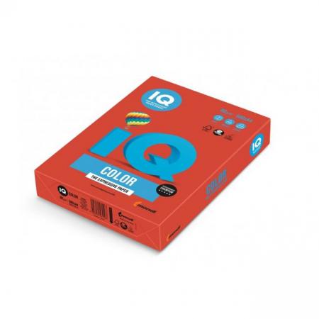 Farebný papier IQ color korálovo červený CO44, A4 160g
