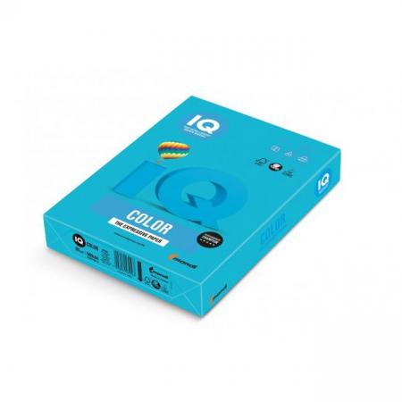 Farebný papier IQ color azúrovo modrý AB48, A4 160g