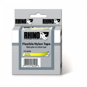Flexibilná nylonová páska Dymo D1 12 mm žltá/čierna