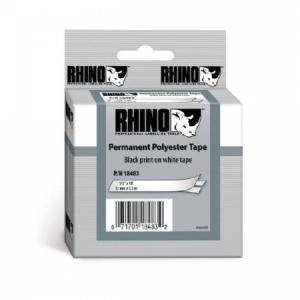 Permanentná polyesterová páska Dymo D1 12 mm biela/čierna