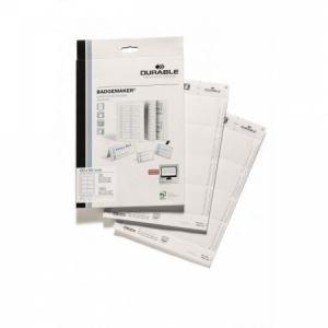 Náhradné papiere BADGEMAKER 60x90 mm biele