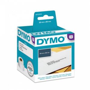 Samolepiace etikety Dymo LW 89x28mm adresné biele 260ks
