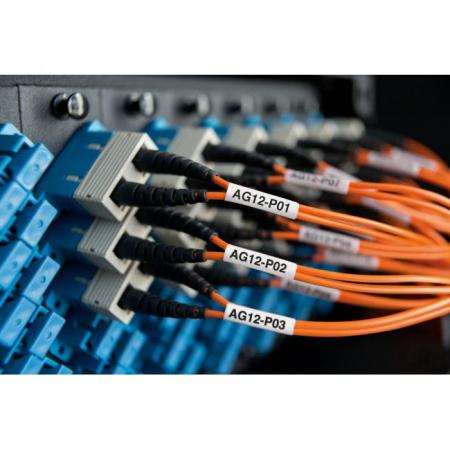 Flexibilná nylonová páska Dymo XTL 12 mm biela/čierna