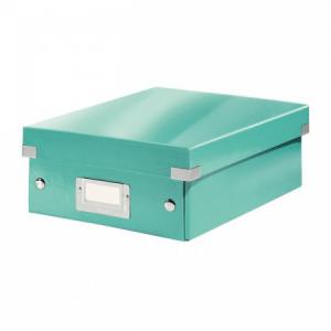 Malá organizačná škatuľa Click & Store ľadovo modrá