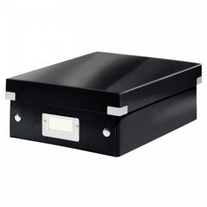 Malá organizačná škatuľa Click & Store čierna