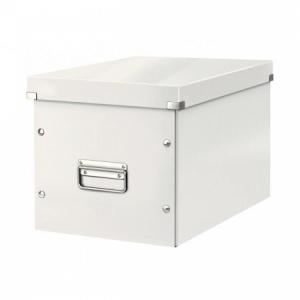 Štvorcová škatuľa Click & Store A4 biela