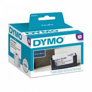 Samolepiace etikety Dymo LW 89x51 mm menovky bez lepidla biele