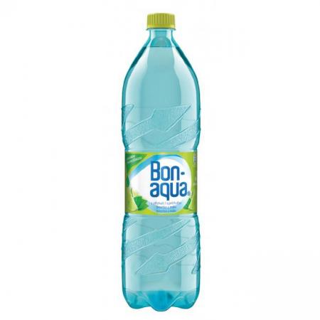 Pramenitá voda Bonaqua Limetka a mäta sýtená 1,5l
