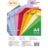 Farebný papier Gimboo A4 100 listov 80g 10 neónových farieb