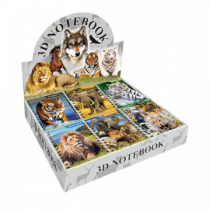 Miniblok Zvieratá mix v dispeji 60 ks