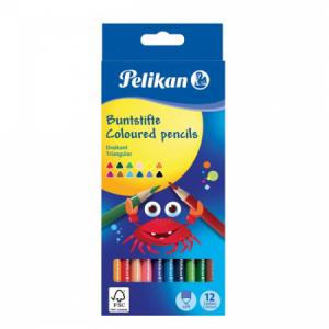 Pastelky Pelikan trojhranné 12 ks v krabičke