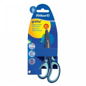 Nožnice Pelikan Griffix pre ľavákov v blistri modré