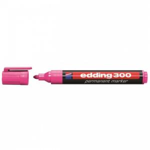 Permanentný popisovač edding 300 ružový