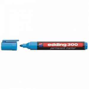 Permanentný popisovač edding 300 svetlomodrý