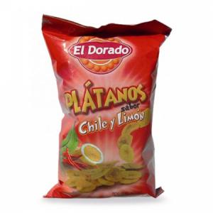 Banánové chipsy Platanos 100g chilli a citrón