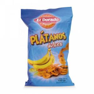 Banánové chipsy Platanos 100g sladké