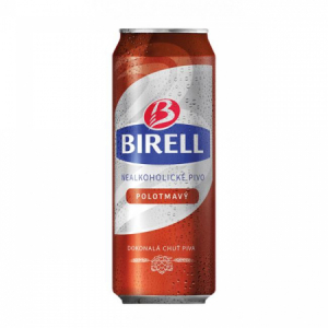 Pivo Birell nealko 0,5l 24ks Polotmavé plech