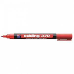 Permanentný popisovač edding 370 červený