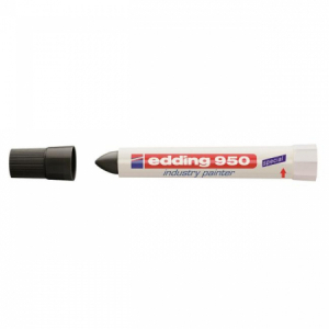 Priemyselný voskový popisovač edding 950 čierny