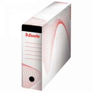Archívny box na závesné obaly Esselte biely/červený
