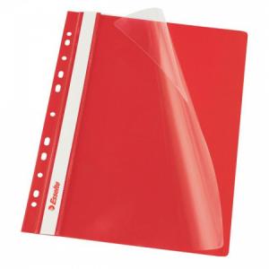 Rýchloviazač PVC s eurodierovaním Esselte VIVIDA červený