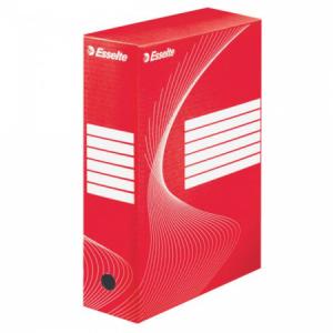Archívny box Esselte 100mm červený/biely