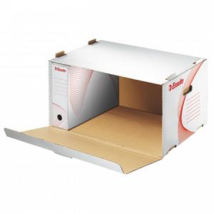 Archívna škatuľa s predným otváraním Esselte biela/červená