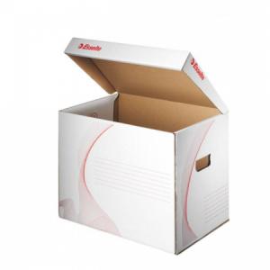 Archívna škatuľa univerzálna Esselte biela/červená