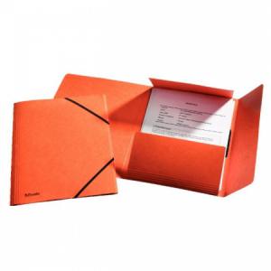 Prešpánový obal s gumičkou Esselte oranžový