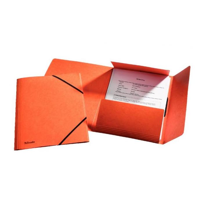 Prešpánový obal s gumičkou Esselte oranžový 3ca5b68ef06