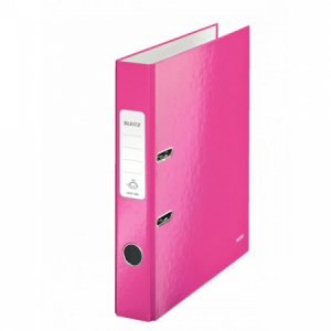 Zakladač pákový Leitz 180° WOW 5cm ružový