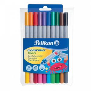 Sada popisovačov Pelikan Colorella Twin C304 20 farieb