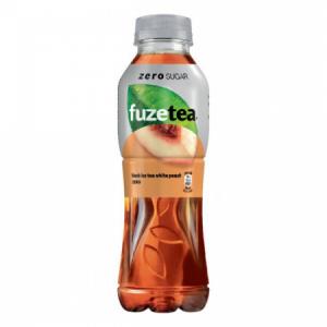 Čierny ľadový čaj FUZETEA Biela broskyňa 0,5l