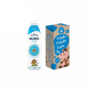Trvanlivé mlieko Euromilk Kukkonia polotučné 1l