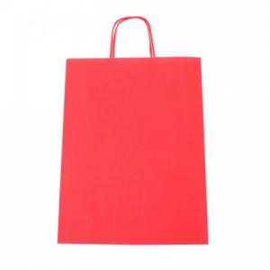 Papierová taška, stáčané ušká, 260x120x350mm, červená