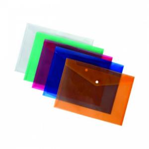 Plastový obal A5 s cvočkom Karton PP modrý