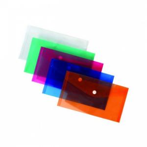 Plastový obal DL s cvočkom Karton PP modrý