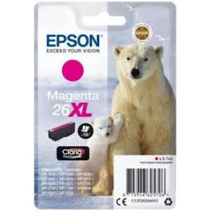 Atrament Epson T2632, 26XL Claria, cyan XP-600/700