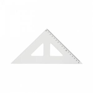Trojuholník Centropen s kolmicou transparentný